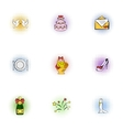 Marriage icons set pop-art style vector image