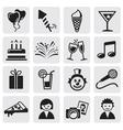Birthday icons set vector image