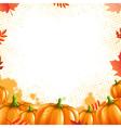 Orange Pumpkins Frame vector image vector image