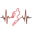 Cardiogram running vector image vector image