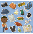 African-American man and male things vector image