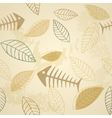 Fish and plant seamless pattern vector image