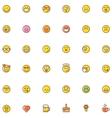 Smiley icon set vector image vector image