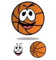 Cartoon basketball ball for mascot design vector image vector image
