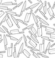 Kitchen Knives Seamless Pattern vector image