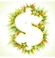 frame dollar sign vector image