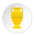 ancient gold vase icon circle vector image
