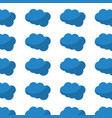 blue cloud weather seamless pattern design vector image