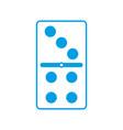 domino piece icon vector image