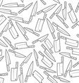 Kitchen Knives Seamless Pattern vector image