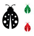 ladybug color vector image