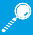 magnifying glass icon white vector image