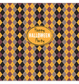 Seamless pattern Of Vintage Happy Halloween Tartan vector image