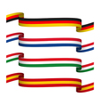 Set ribbons in the colors of Germany vector image