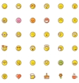 Smiley icon set vector image