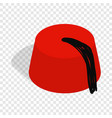 turkish hat fez isometric icon vector image