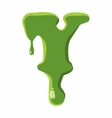 Letter Y made of green slime vector image