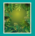 tropical leaf pattern poster vector image