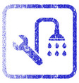 plumbing framed textured icon vector image