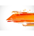 Abstract tech background in orange color vector image vector image