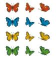 collection of butterflies vector image vector image