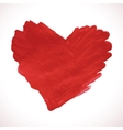 Hand-drawn painted red heart element vector image vector image