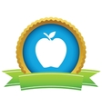 Gold apple logo vector image