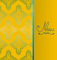 Background with antique pattern vector image