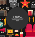 Cinema Concept Flat Style with Place for Text vector image