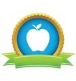 Gold apple logo vector image
