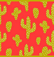 green and red cactus seamless pattern vector image