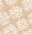Lace seamless pattern with doilies vector image