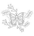 monarch butterfly animal insect with branch vector image