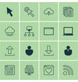 set of 16 web icons includes website page blog vector image