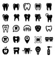 tooth logo dental clinic icons set simple style vector image