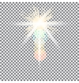 Yellow warm light effect sun rays beams on vector image