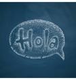 Hola icon vector image