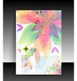 Floral Pamphlet vector image