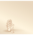 Silhouettes of woman in pastel tones vector image