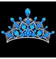 crown tiara women vector image