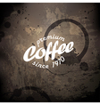 coffee grunge poster vector image