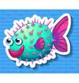 Fish with thorns vector image