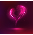 Dark background with glowing heart for my vector image