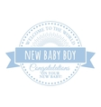 Badge for the newborn vector image
