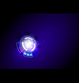 blue abstract technology background vector image