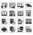 Books icons vector image