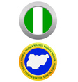 button as a symbol NIGERIA vector image