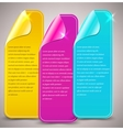 glossy banners background vector image