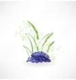 grass grunge icon vector image