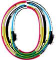 Grunge colorful font Letter O vector image